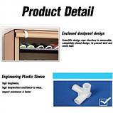 Тканевый шкаф для обуви Shoe Cabinet 160X60X30, фото 2