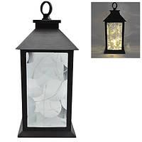 Лампа - фонарь с подсветкой Stenson размер 13х13х28см, пластик, светильники, фонарь, лампы для фонарей, лампа