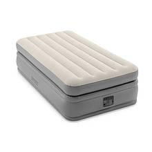 Надувная велюровая кровать Intex 64162 со встроенным электронасосом РАСПРОДАЖА!