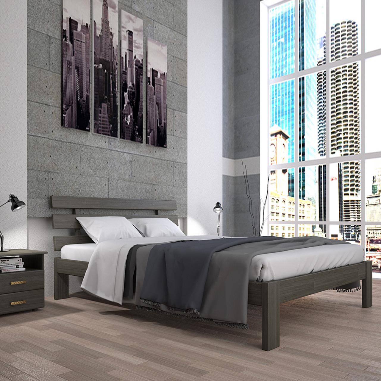 Кровать деревянная Домино-1 односпальная