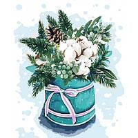 Новогодняя Картина по номерам Краски зимы 2 40х50. Идейка (зима/рождество/новый год)
