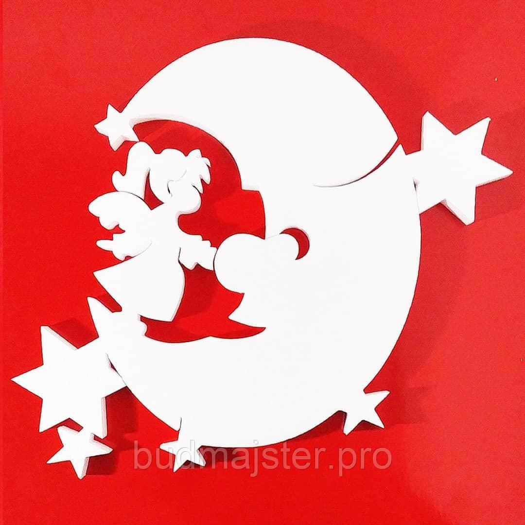Декор новорічний Місяць 450мм
