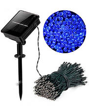 Гирлянда 100 LED на солнечной батарее, синий