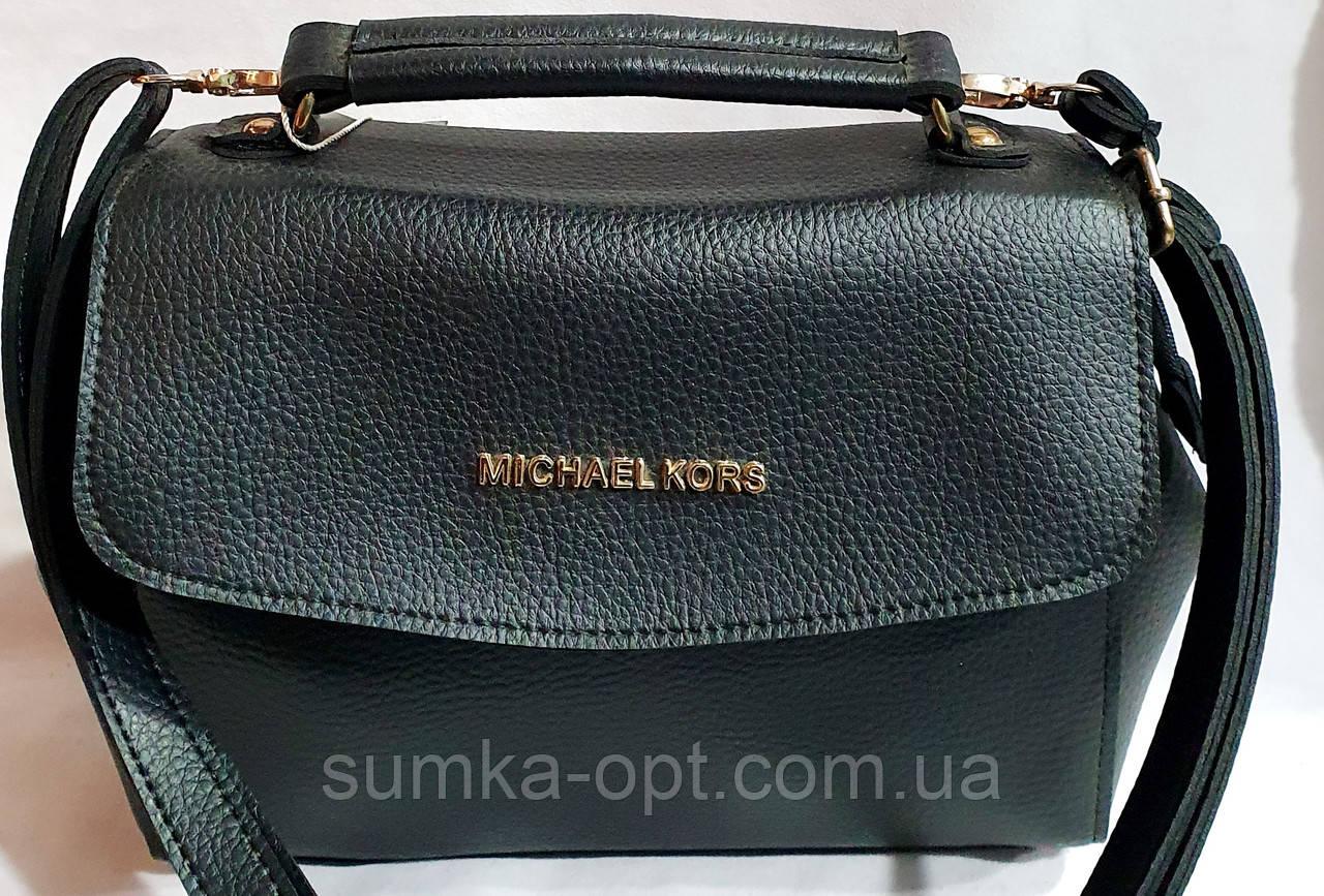 Брендовый женский клатч, сумочка Michael Kors с клапаном и на молнии 25*18 см (черный)