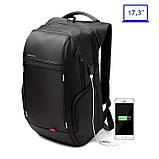 """Рюкзак міський Kingsons KS3140W 17,3"""" з USB-роз'ємом, чорний, 30л, фото 6"""