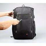 """Рюкзак міський Kingsons KS3140W 17,3"""" з USB-роз'ємом, чорний, 30л, фото 7"""