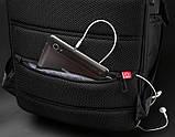 """Рюкзак міський Kingsons KS3140W 17,3"""" з USB-роз'ємом, чорний, 30л, фото 9"""
