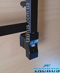 Електротена Heatpol H+Eco прямокутний 30х40 MS chrome: Регулювання 10-65C + таймер 1-9 ч. +Маскування проводу Чорний