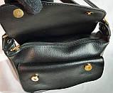 Брендовый женский клатч  Michael Kors с замшевым клапаном и на молнии 26*17 см (черный) распродажа, фото 4