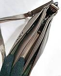Женские повседневные клатчи на 2 змейки Китай (4цвета)16*25см БЕЖ, фото 4