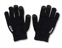 1009 перчатки для телефона с сенсорным черные, фото 1