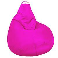 Безкаркасне м'яке Крісло мішок Груша Пуф для дітей M 90х70см Рожевий пуфик