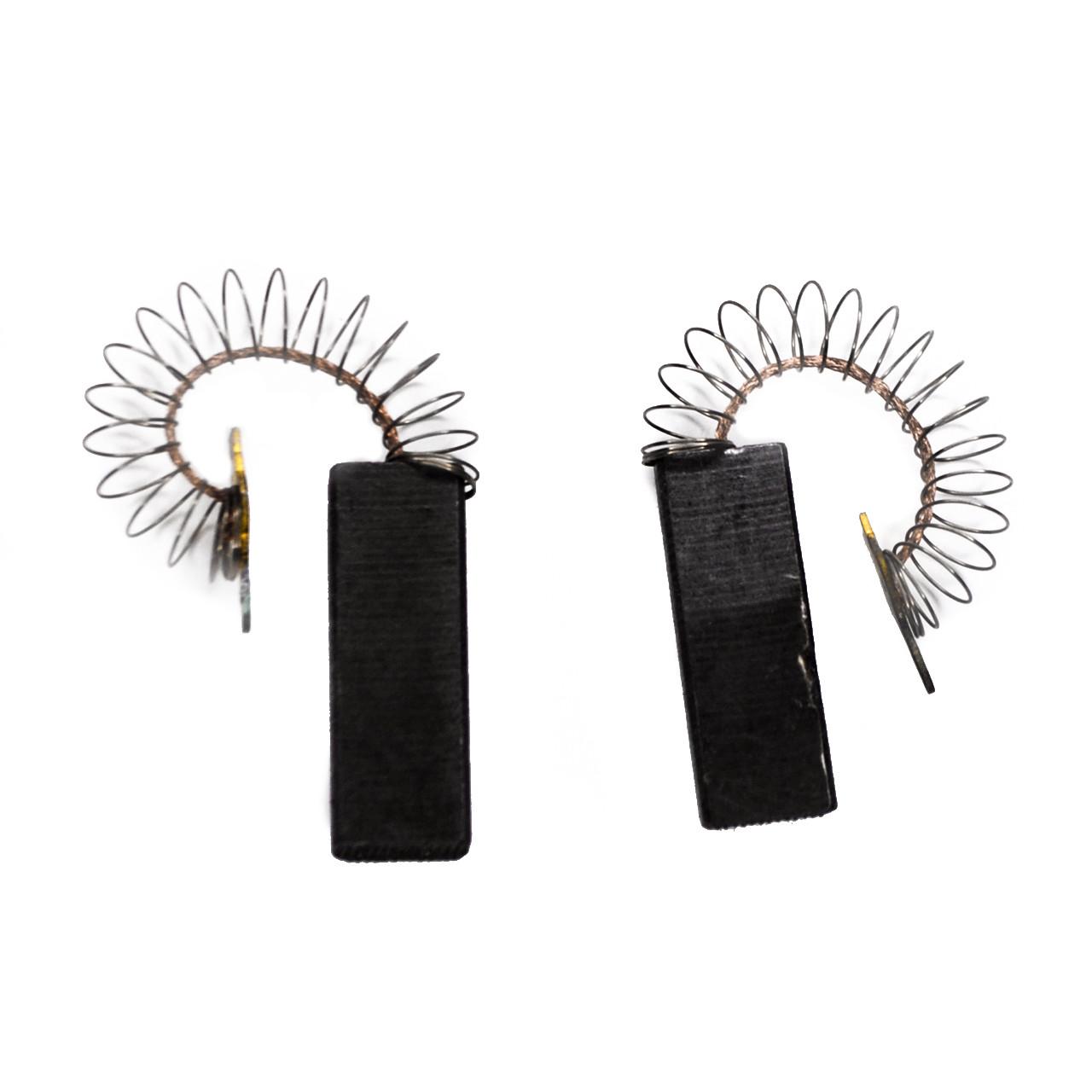Щетки угольные 6*12,5*31 цельные, провод по центру, с пружинкой