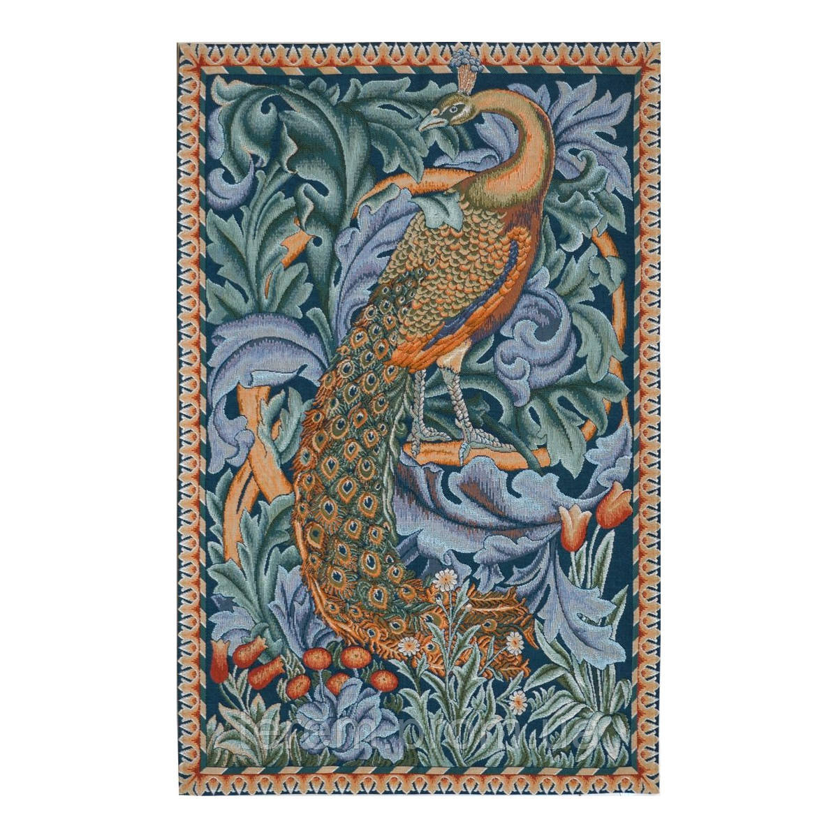 Гобеленовая картина Art de lys The Peacock, William Morris 67x50 7652 без подкладки
