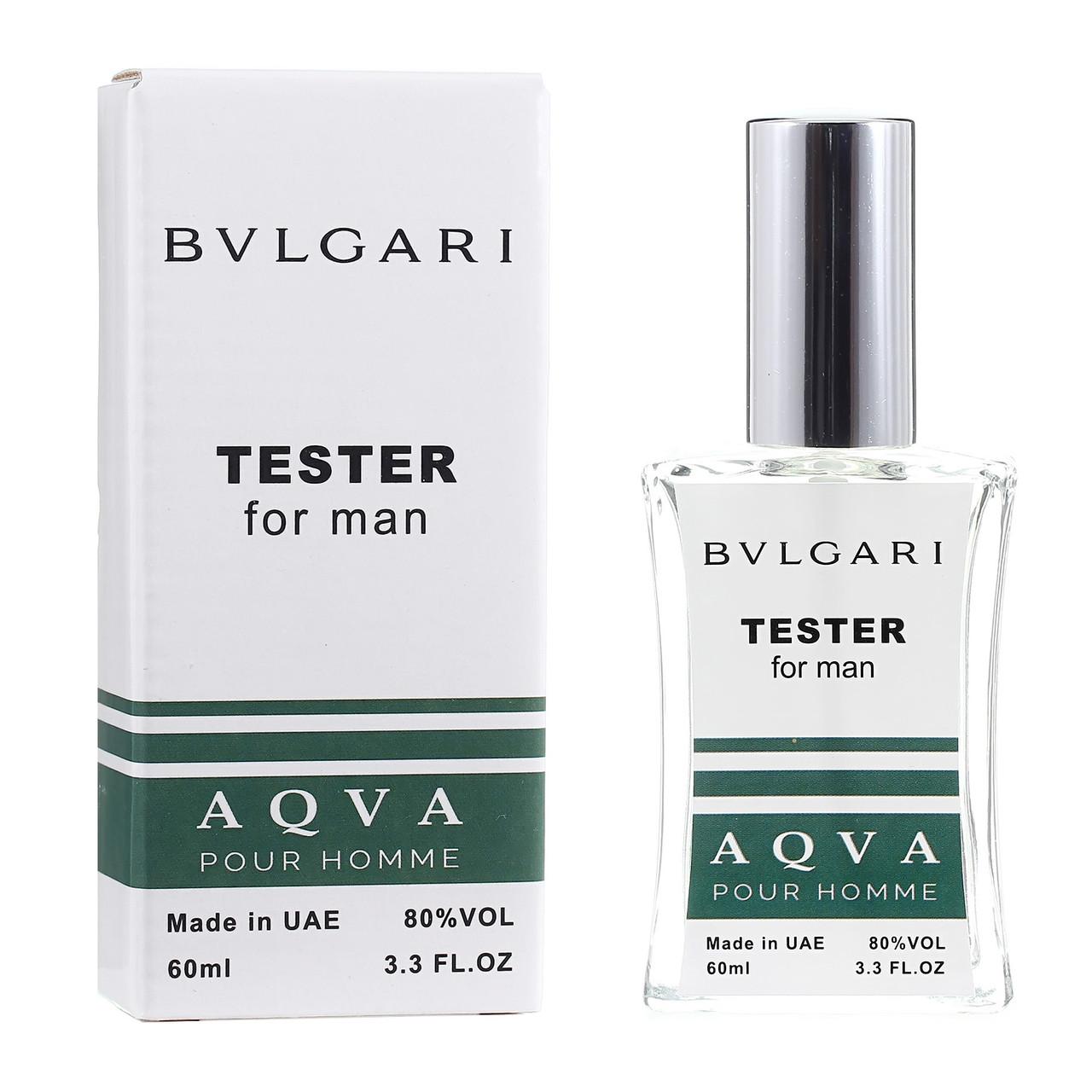 Тестер Bvlgari Aqva Pour Homme мужской, 60 мл