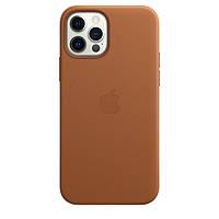 """Чехол-накладка Кожа Leather Case Full Cover для Apple iPhone 12 / 12 Pro 6.1"""" (saddle brown)"""