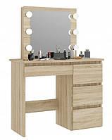 Туалетный стол, гримерный столик с зеркалом в спальню, гостинную, салон красоты, трюмо с подсветкой лампами