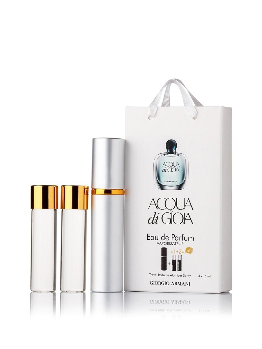 Мини-парфюм Giorgio Armani Acqua di Gioia, женский 3х15 мл