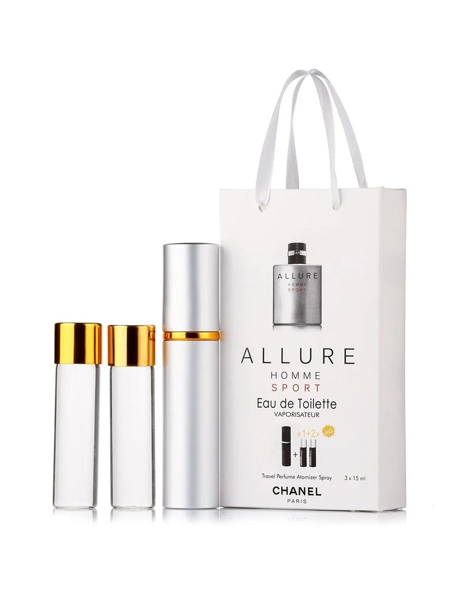 Мини-парфюм с феромонами мужской CHANEL Allure Homme Sport 3х15 мл
