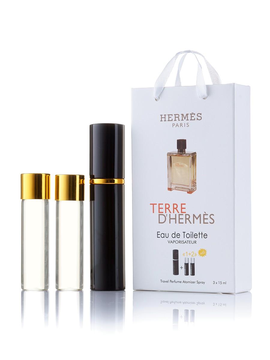 Мини-парфюм Hermes Terre D`Hermes, мужской 3х15 мл