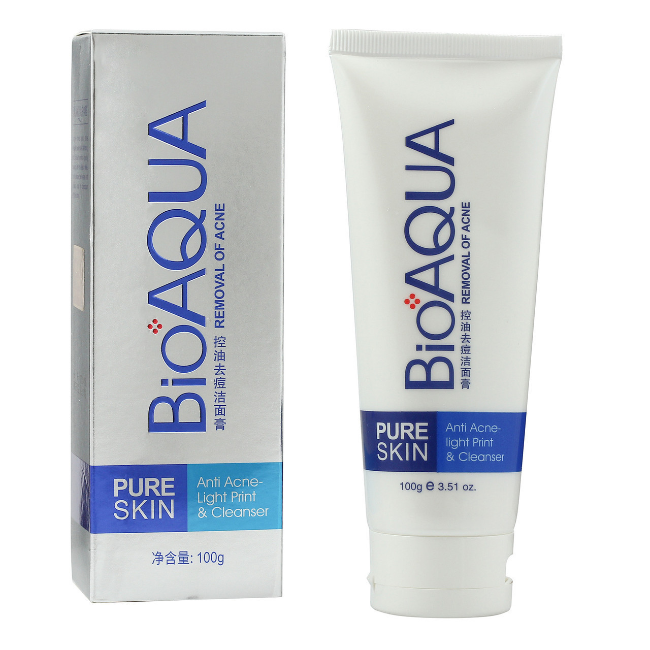 Пенка для умывания от акне Bioaqua Pure Skin в примятой упаковке
