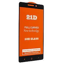 Защитное стекло 21D Glass 0.10 mm Full Glue для Xiaomi Redmi 4A Black 00007028, КОД: 1255375