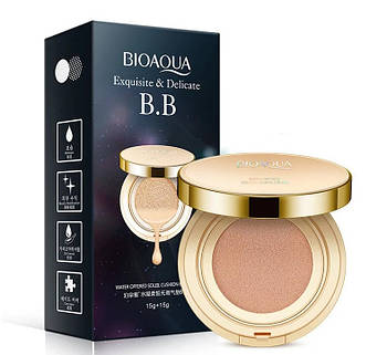 Кушон BIOAQUA Exquisite & Delicate BB Cushion Cream 15х2 г (тон №1)