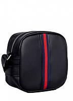 Сумка кроссбоди черная Маленькая женская сумка Сумочка через плече женская