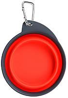 Dx30663 Dexas Travel Cup Миска складная дорожная 240 мл, красный