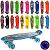 Скейт MS 0749-5 пенні, колеса ПУ світло, малюнок, 10 видів, розібр., кул., 56-14,5 см.