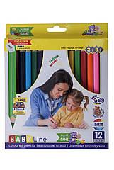 Карандаши Zibi цветные с точилкой 12 цветов ZB.2452, КОД: 2447110
