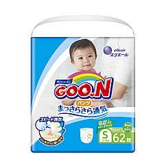 853625 Трусики-підгузники GOO.N для активних дітей 4-9 кг розмір S, унісекс, 62 шт, КОД: 2424797