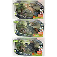 Динозавр   4шт(5-22см), дерево, звук, свет, 2 вида, бат-таб, в кор-ке, 33-22,5-13см