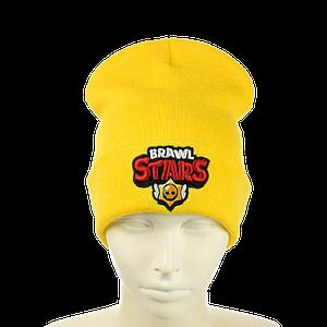 """Детская шапка """"Brawl Stars"""" Желтая"""