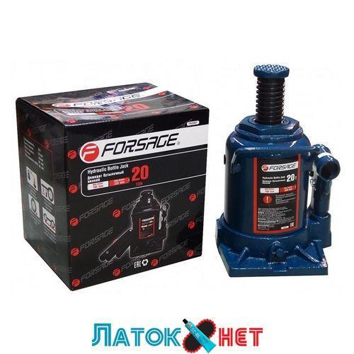 Домкрат бутылочный 20т низкий с клапаном F-T92007 Forsage