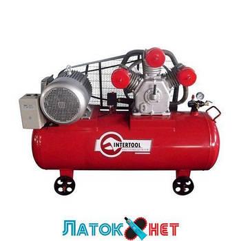 Компрессор 300л 8атм 1600л/мин 380В PT-0050 Intertool 11кВт 15HP 3 цилиндра