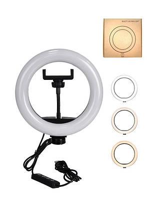 Кільцева Led лампа 26см для селфи, фото 2
