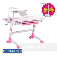 Парта регулируемая FunDesk Volare Pink + Полка для книг SS16 FunDesk Pink