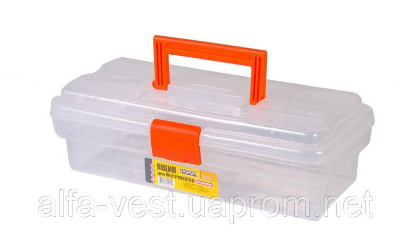 """Ящик для инструмента 12"""" (305*150*100 мм), усиленный, пласт.замки MASTERTOOL 79-6025"""