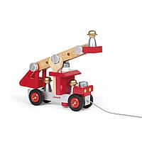 Игровой набор Janod Пожарная машина с инструментами J06498, КОД: 2431497
