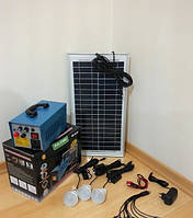 Аккумуляторный фонарь, солнечная система GD-8018 на солнечной батареи+комплект переходников+3 лампочки