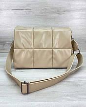 Женская сумка «Камила» бежевая Welassie