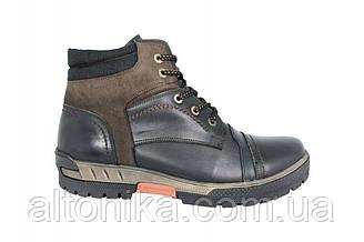 STTOPA зима. Размеры 46-49. Ботинки больших размеров из натуральной кожи. БМ1-4649 Черные коричневые
