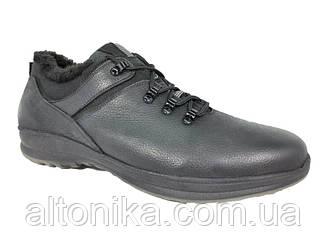 STTOPA зима. Розміри 46-49. Кросівки зимові великих розмірів з натуральної шкіри. БМ13-4649 Чорні