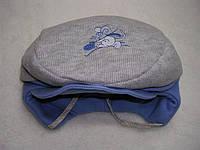 Шапочка-кепка Вязка,трикотаж р.48 Серо-голубая