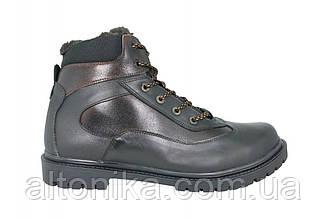 STTOPA зима. Размеры 46-49. Ботинки больших размеров из натуральной кожи. БМ7-4649 Черные