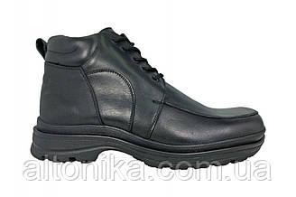 STTOPA зима. Размеры 46-49. Ботинки больших размеров из натуральной кожи. БМ6-4649 Черные