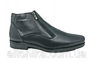 STTOPA зима. Размеры 46-50. Ботинки больших размеров из натуральной кожи. БМ8-4650 Черные