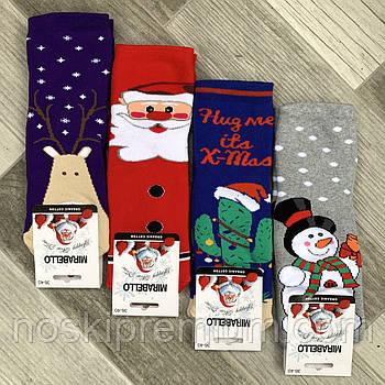 Новогодние носки женские махровые хлопок Мirabello, Турция, 36-40 размер, ассорти, 02485