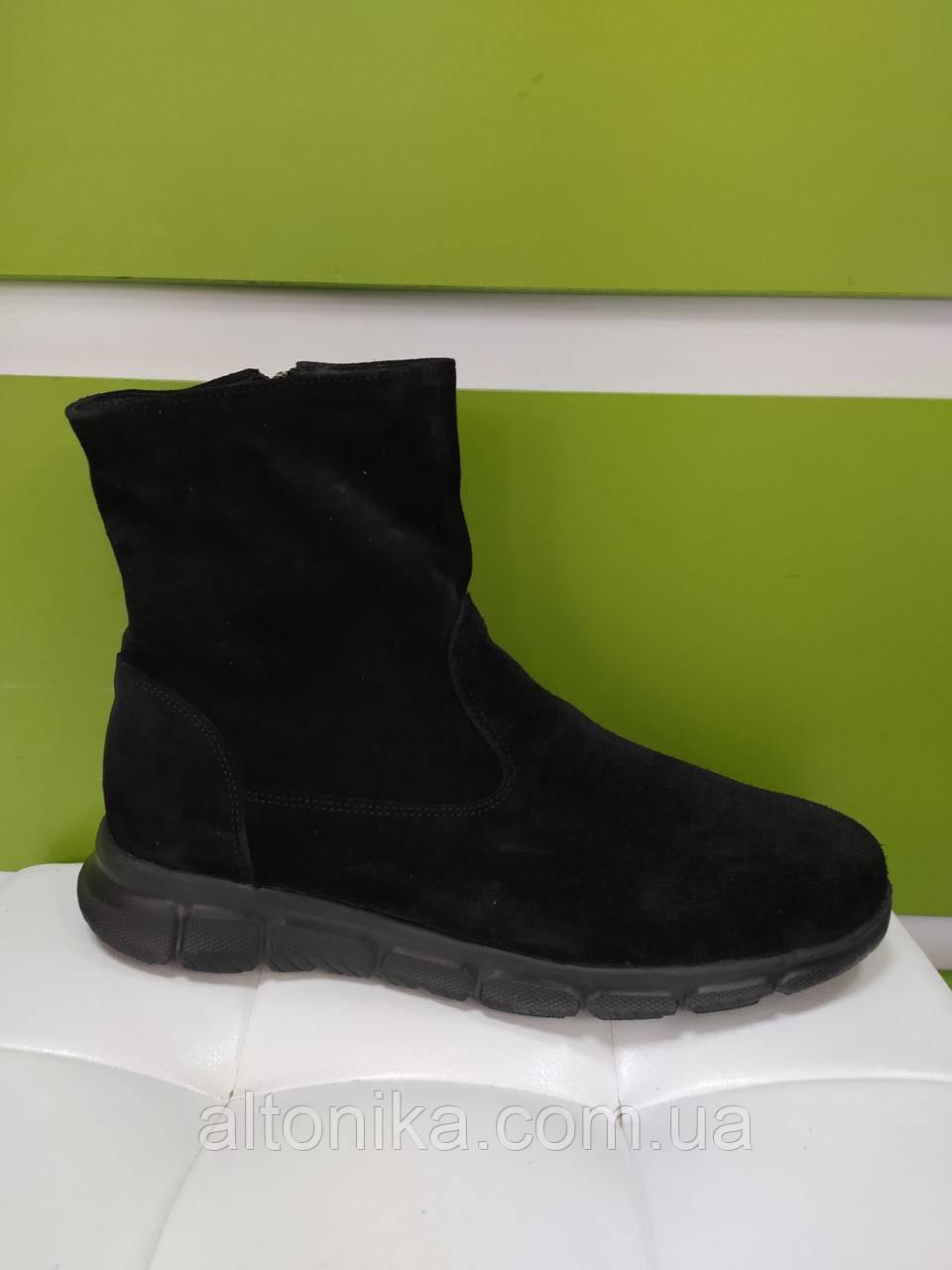 STTOPA деми зима. Размеры 40-44. Ботинки кожаные больших размеров! С11-4-4044-3-3644 Черные